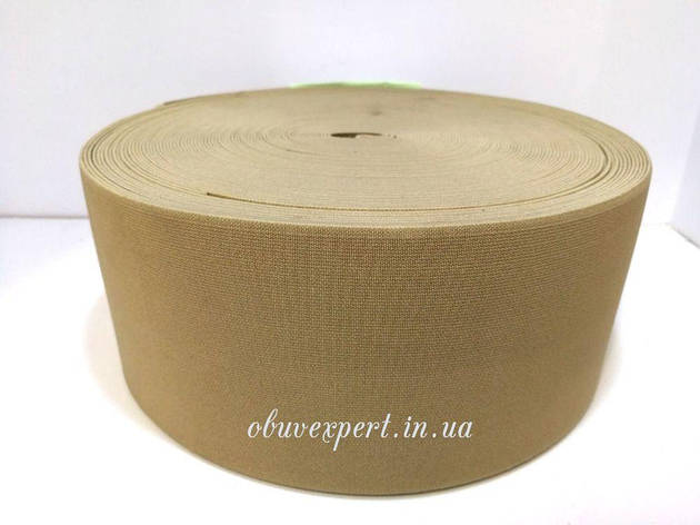 Резинка  взуттєва 90 мм, кол. бежевий, фото 2