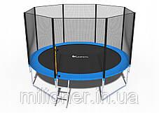 Батут FunFit 374 см с сеткой + лестница(2 места) , фото 3