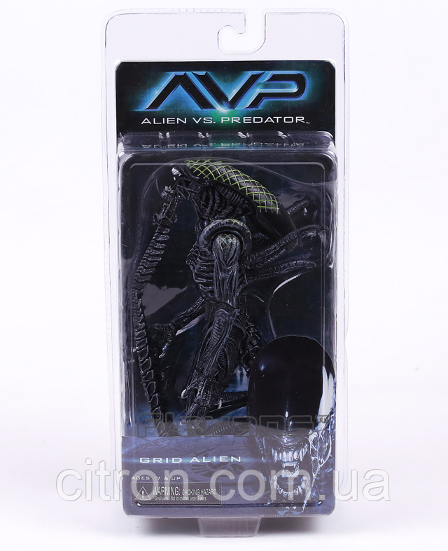 Коллекционная фигурка Чужой Grid Alien 20 см в фирменной упаковке NECA