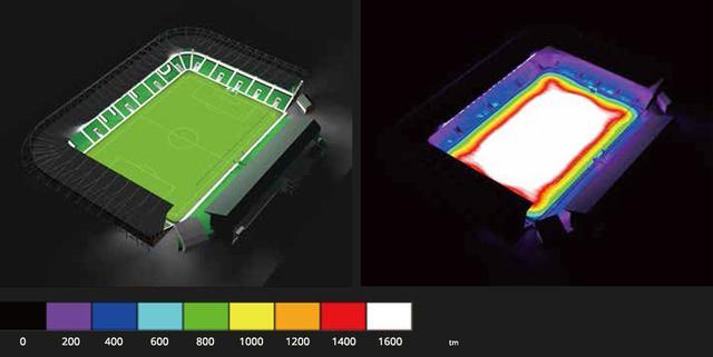 Космос HiMast инсталяция в Dialux для стадиона