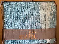 Чехол для дивана трехместного и два чехла для кресла голубого цвета Evibu Турция