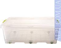 Контейнер для хранения с зажимами BIGBOX - 30л на колесах