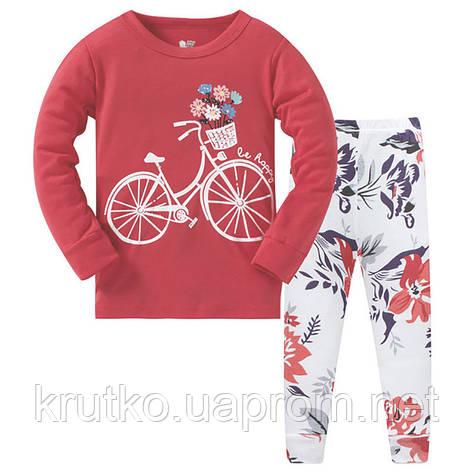 Пижама Цветы на велосипеде Baobaby, фото 2
