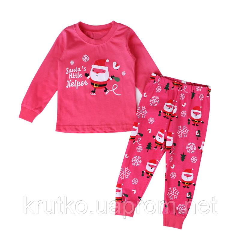 Пижама Санта-Клаус, розовый Baobaby