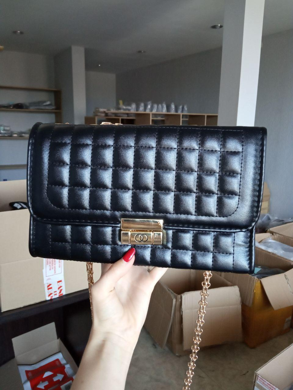 Уценка Клатч женский сумка большая L-16118 черный