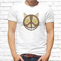 Мужская футболка с принтом Кот с улыбкой Push IT