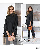 Оригинальная молодёжная блуза сводного кроя с 42 по 46 размер