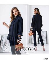 Стильная молодёжная блуза сводного кроя с 42 по 46 размер, фото 3