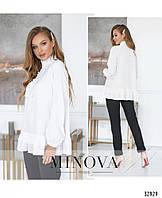 Стильная молодёжная блуза сводного кроя с 42 по 46 размер