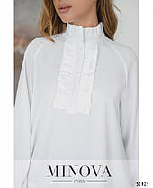 Стильная молодёжная блуза сводного кроя с 42 по 46 размер, фото 2