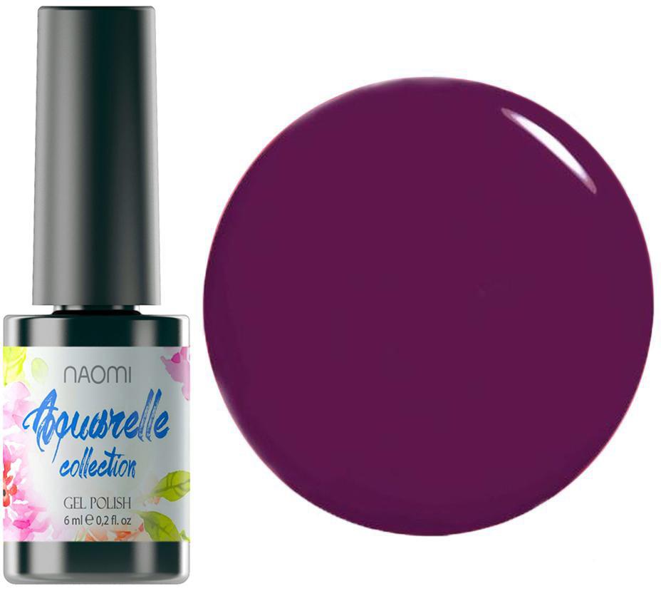 """Гель-лак для ногтей Naomi """"Aquaurelle"""" №02 Плотный фиолетовая фуксия (эмаль) 6 мл"""