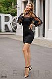 Стильное вечернее мини-платье черного цвета, фото 3