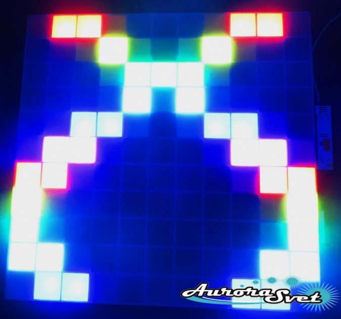 Светодиодная пиксельная панель настенная W-090-11*11-1