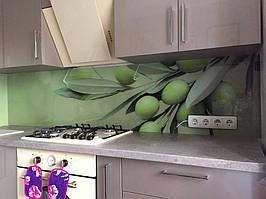 Фартук - оливки - установка скинали из стекла в Днепре 1