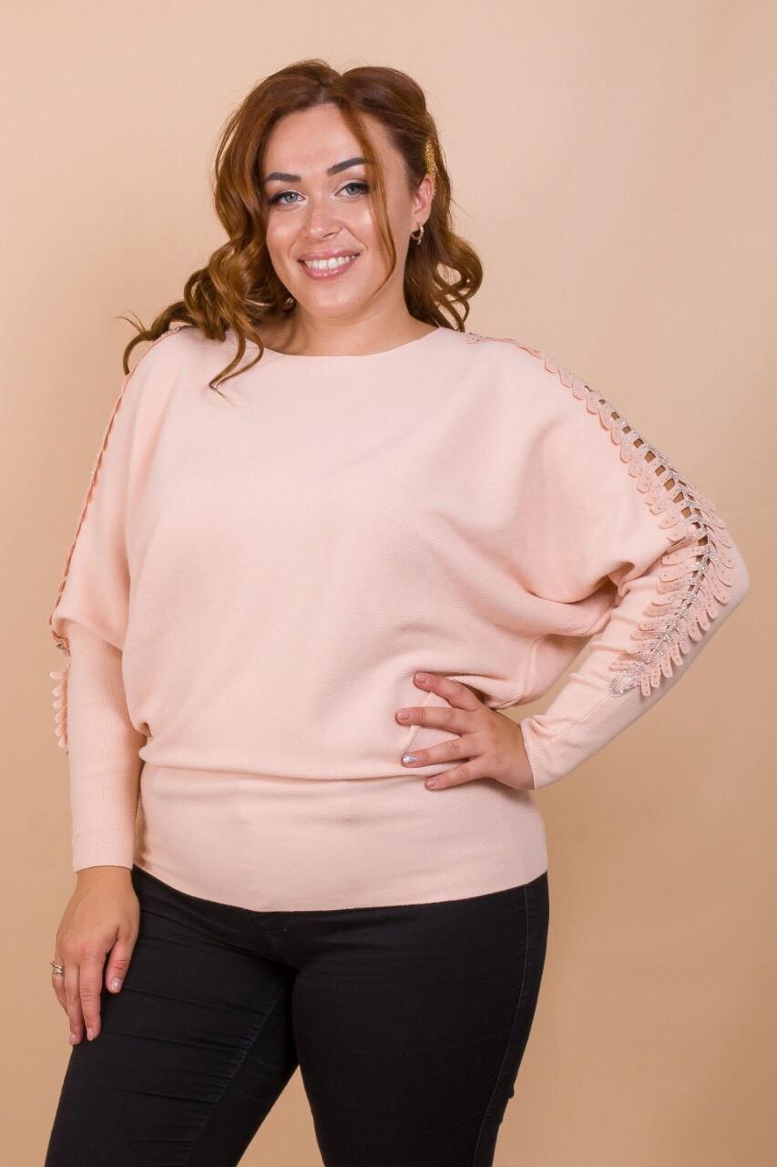 Стильный женский свитер 50-56 (в расцветках)