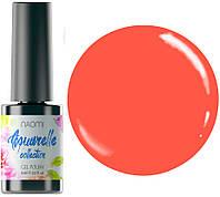 """Гель-лак для ногтей Naomi """"Aquaurelle"""" №14 Плотный неоновый оранжевый (эмаль) 6 мл"""