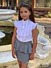 Юбка на девочку с баской  мм502-1