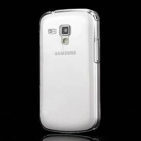 Чехол пластиковый на Samsung Galaxy S Duos S7562, прозрачный