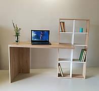 Стол компьютерный с книжными полками  СК-2 Микс мебель, цвет Сонома+Атланта