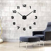 3D-Часы 100 см Арабские черные клеящиеся стикеры настенные большие [Пластик]