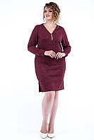 Женское трикотажное платье Ангора полоска. Размер 48-52