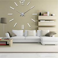 3D-Часы 100 см Палочки белые наклейки стикеры на стену большие [Пластик]
