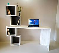 Стол компьютерный  с книжными полками СК-4 Микс мебель, цвет Атланта+Венге