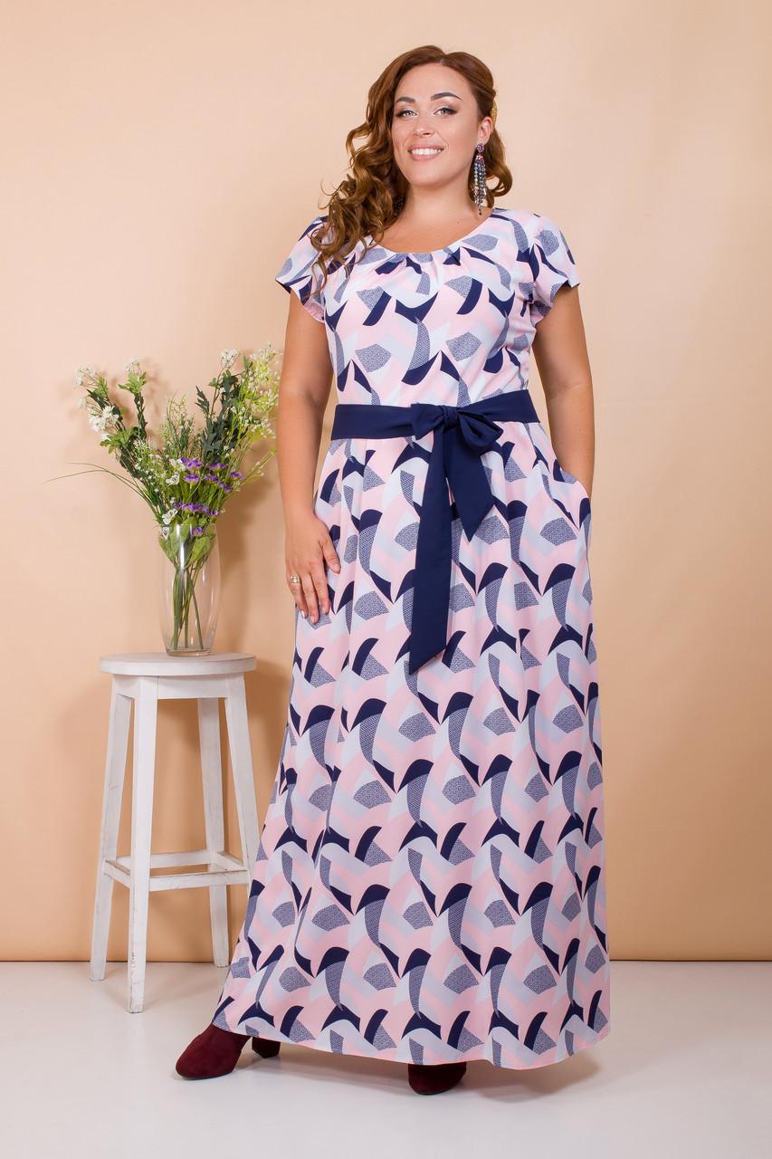Женственное летнее платье 50-56 р