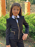 Пиджак школьный на девочку  мм696, фото 1