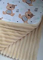 Детский плюшевый плед, в кроватку и коляску мишки тедди