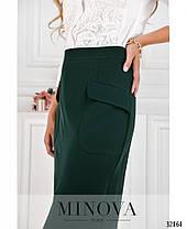 Стильная  молодёжная длинная юбка-  карандаш с разрезом впереди   42-48, фото 3