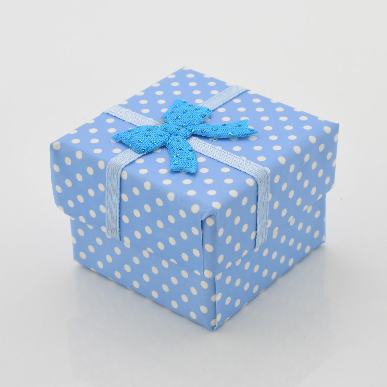 Коробочка маленькая для кольца серег синий цвет 741157 размер 4х4 см