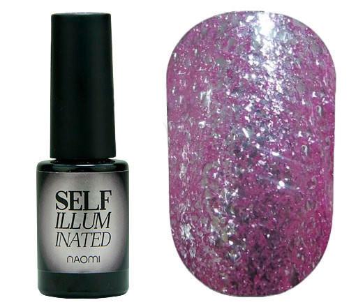 """Гель-лак для ногтей Naomi """"Self Illuminated"""" №16 Нежная фиолетовая фуксия 6 мл"""
