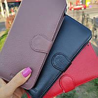 Стильный кожаный кошелек купюрник пудрового цвета Marco Coverna