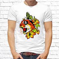 Мужская футболка с принтом Кот пират Push IT
