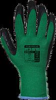 Перчатки с латексным покрытием Portwest A100 Зеленый/Черный, L