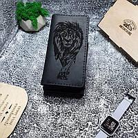 Мужское кожаное портмоне Mountains Лев 2.0, чоловічий гаманець кошелек, натуральна шкіра, портмоне кожа
