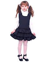 """Сарафан школьный для девочки М-918 рост 116 122 128 134 140 и 146 синий тм """"Попелюшка"""", фото 1"""