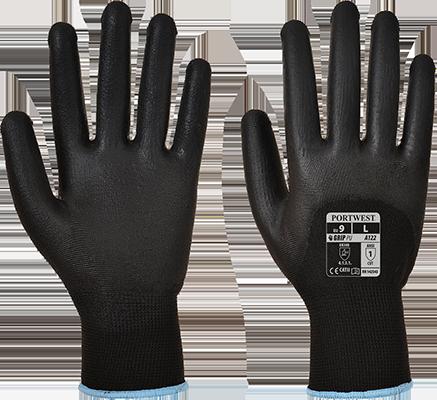 Перчатки Portwest Ultra с ПУ покрытием A122 Черный, M