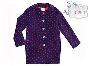 Детское пальто для девочки Верхняя одежда для девочек MONE Украина 1489-1