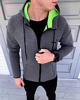 Мужская спортивная куртка осенняя в стиле Puma Серая, фото 1