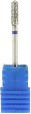 Фреза алмазная - цилиндр округлый 10 мм, синий