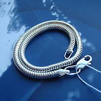 Серебряный браслет, 220мм, 7 грамм, плетение Снейк, фото 3