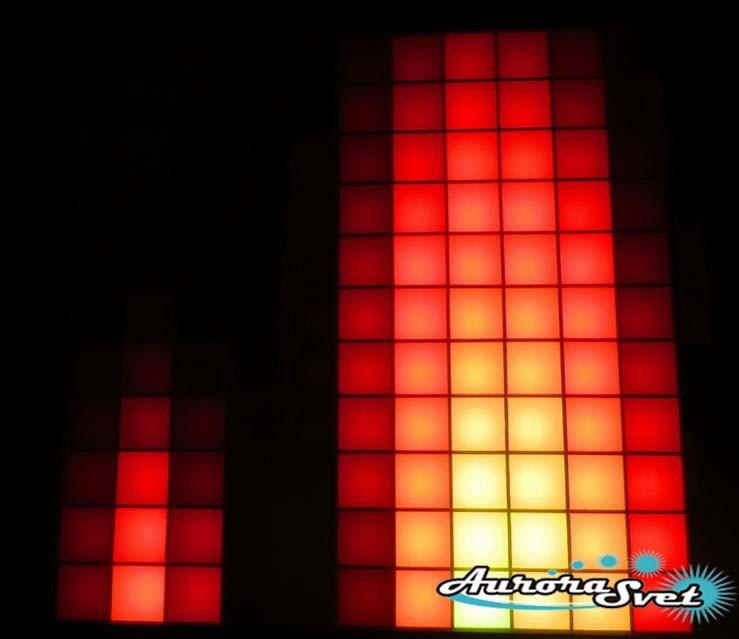Светодиодная пиксельная панель настенная W-090-11*11-4