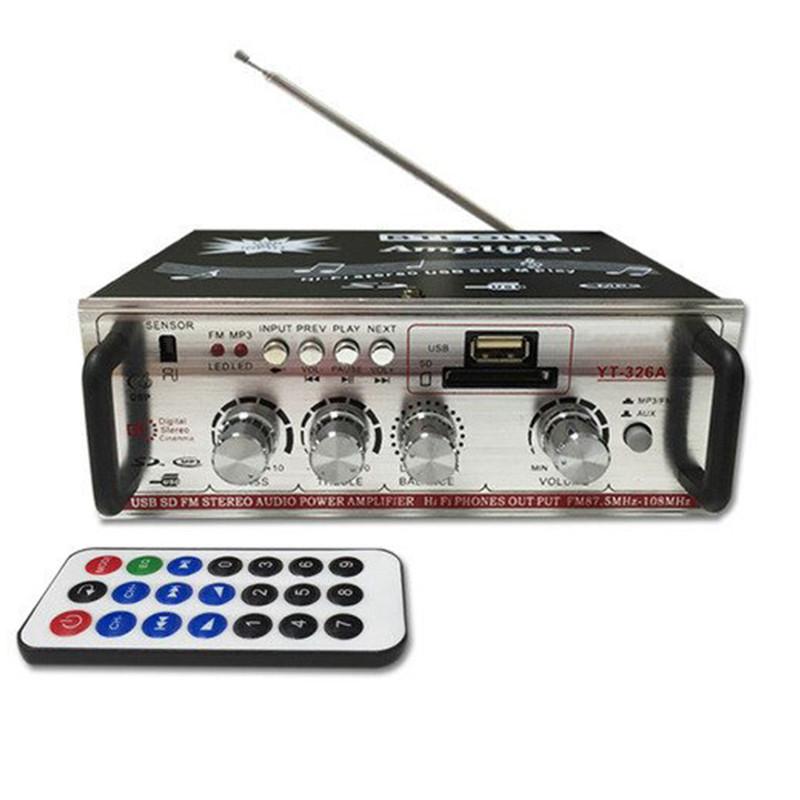 Підсилювач потужності звуку Teli YT-326A USB + MP3 FM 2x200 Вт