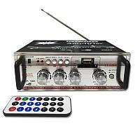 Підсилювач потужності звуку Teli YT-326A USB + MP3 FM 2x200 Вт, фото 1