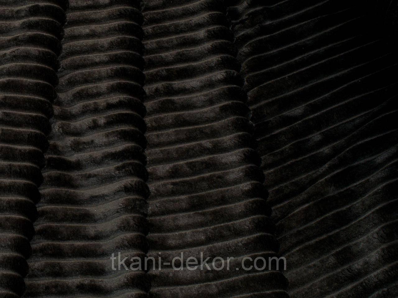 Плюшевая ткань Minky черный шарпей