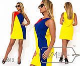 Платье мини из льна трехцветное без рукавов с застежкой молнией вдоль спины, 3 цвета, фото 3