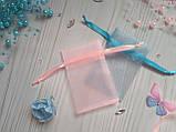 Пара подарочных мешочков из органзы 6 х 9 см, фото 2