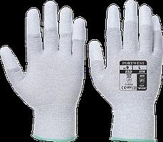 Антистатические перчатки с ПУ покрытием на пальцах A198